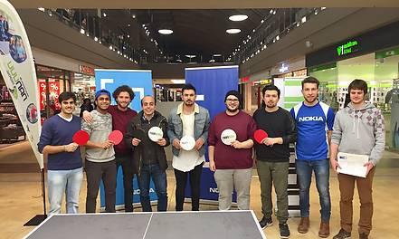 Match des nanuuu Ping Pong Clubs im Blautal-Center Ulm